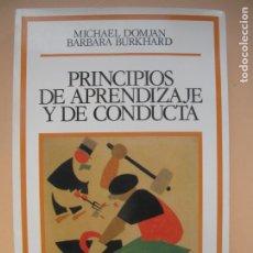 Libros de segunda mano: PRINCIPIOS DE APRENDIZAJE Y DE CONDUCTA.- MICHAEL DOMJAN, BARBARA BURKHARD.- DEBATE.1997. Lote 179523777