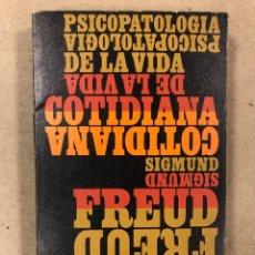 Libros de segunda mano: PSICOPATOLOGÍA DE LA VIDA COTIDIANA. SIGMUND FREUD. ALIANZA EDITORIAL 1970. 319 PÁGINAS.. Lote 180186911