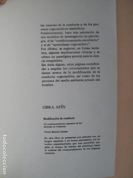 Libros de segunda mano: COGNICIÓN Y MODIFICACIÓN DE CONDUCTA.- MICHAEL J. MAHONEY.- TRILLAS.MÉXICO.1983 - Foto 4 - 180250702