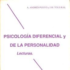 Libros de segunda mano: PSICOLOGÍA DIFERENCIAL Y DE LA PERSONALIDAD LECTURAS. Lote 180268520