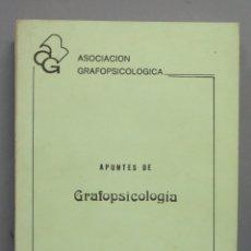 Libros de segunda mano: APUNTES DE GRAFOPSICOLOGIA. ALLENDE DEL CAMPO. Lote 180269846