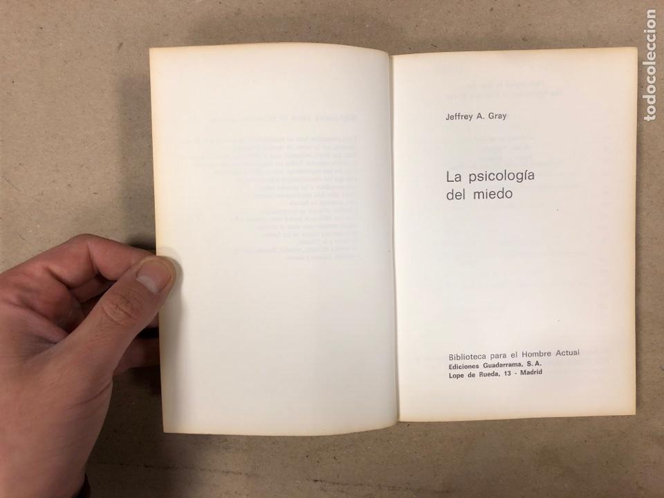 Libros de segunda mano: LA PSICOLOGÍA DEL MIEDO. JEFFREY A. GRAY. EDICIONES GUADARRAMA 1971. ILUSTRADO. 255 PÁGINAS. - Foto 2 - 180274195