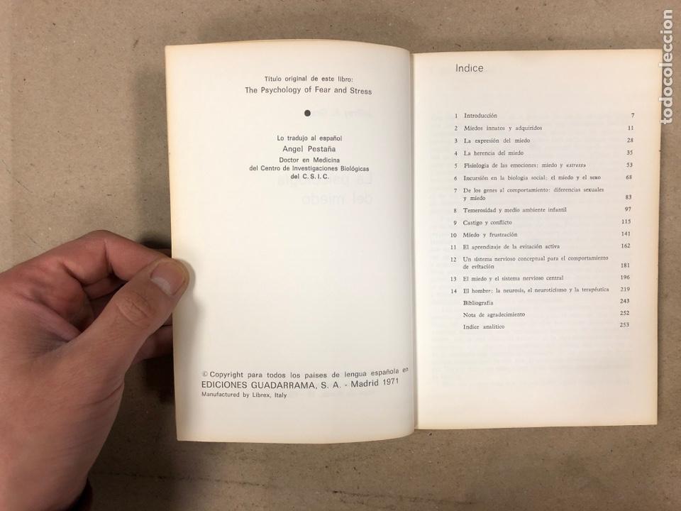 Libros de segunda mano: LA PSICOLOGÍA DEL MIEDO. JEFFREY A. GRAY. EDICIONES GUADARRAMA 1971. ILUSTRADO. 255 PÁGINAS. - Foto 3 - 180274195