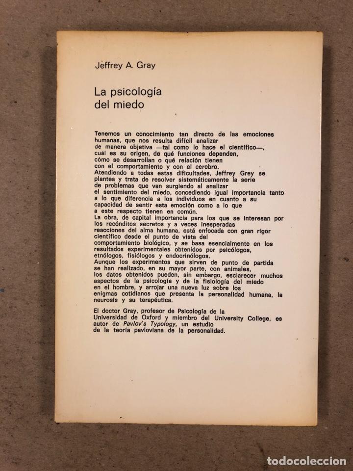 Libros de segunda mano: LA PSICOLOGÍA DEL MIEDO. JEFFREY A. GRAY. EDICIONES GUADARRAMA 1971. ILUSTRADO. 255 PÁGINAS. - Foto 6 - 180274195
