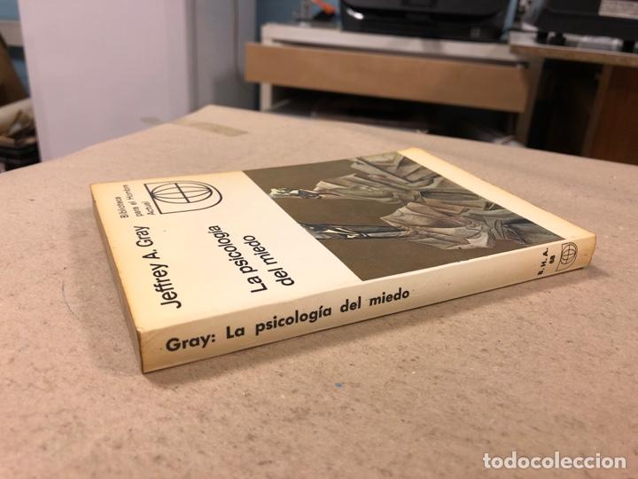 Libros de segunda mano: LA PSICOLOGÍA DEL MIEDO. JEFFREY A. GRAY. EDICIONES GUADARRAMA 1971. ILUSTRADO. 255 PÁGINAS. - Foto 7 - 180274195