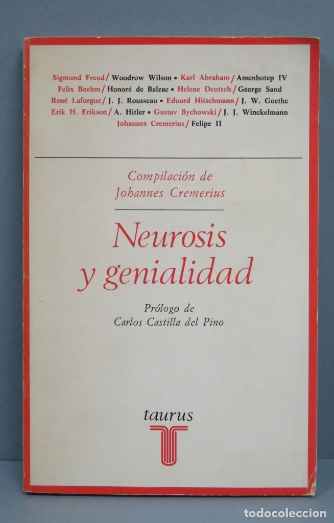 NEUROSIS Y GENIALIDAD. BIOGRAFIAS PSICOANALITICAS (Libros de Segunda Mano - Pensamiento - Psicología)