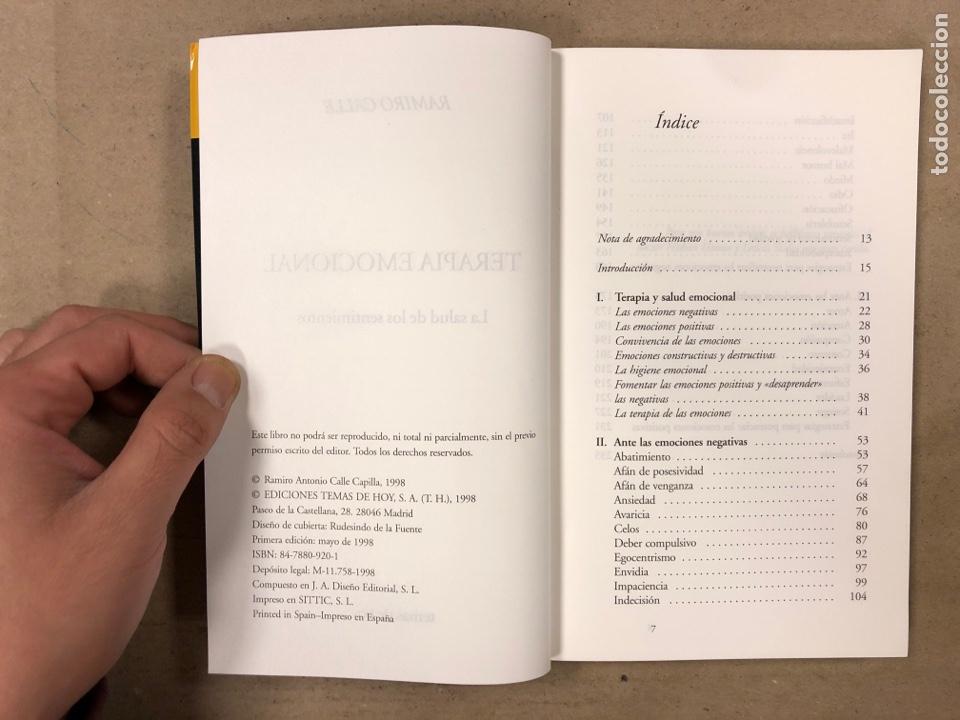 Libros de segunda mano: TERAPIA EMOCIONAL, LA SALUD DE LOS SENTIMIENTOS. RAMIRO CALLE. EDICIONES TEMAS DE HOY 1998 - Foto 3 - 180426868