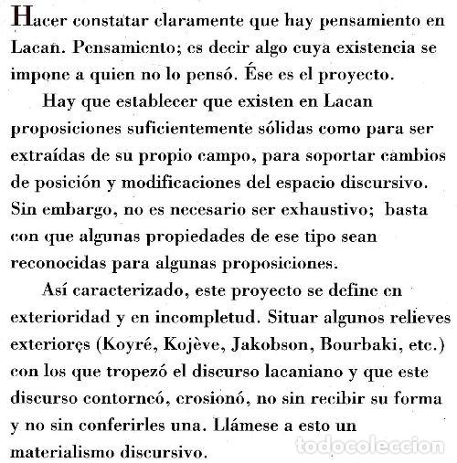Libros de segunda mano: JEAN CLAUDE LACAN. LA OBRA CLARA. LACAN. LA CIENCIA. LA FILOSOFIA. PSICOLOGIA. - Foto 2 - 180897261