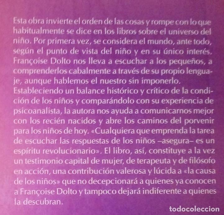 Libros de segunda mano: FRANÇOISE DOLTO - LA CAUSA DE LOS NIÑOS - PAIDÓS, 1993 - Foto 2 - 180979078