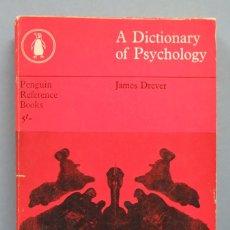Libros de segunda mano: DICTIONARY OF PSYCHOLOGY. JAMES DREVER. Lote 181922557