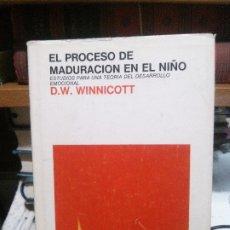 Libros de segunda mano: EL PROCESO DE MADURACIÓN EN EL NIÑO, D.W WINNICOTT, ED. LAIA. Lote 182962391