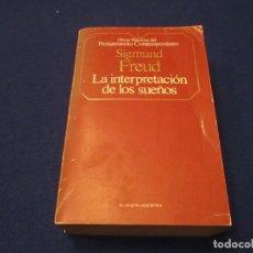 Libros de segunda mano: LA INTERPRETACION DE LOS SUEÑOS SIGMUND FREUD PLANETA-AGOSTINI 1985. Lote 183199302