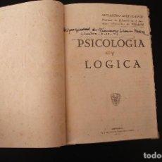 Libros de segunda mano: PSICOLOGÍA Y LÓGICA ALEJANDRO DIEZ BLANCO AVILA 1942. Lote 183406477