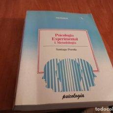 Libros de segunda mano: TOMO PSICOLOGÍA EXPERIMENTAL I. METODOLOGÍA SANTIAGO PEREDA ED. PIRÁMIDE 1987. Lote 183434936