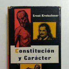 Libros de segunda mano: CONSTITUCIÓN Y CARÁCTER.- ERNST KRETSCHMER (1961). Lote 183466090