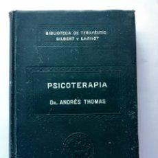 Libros de segunda mano: PSICOTERAPIA. DR. ANDRÉS THOMAS XIV. BIBLIOTECA DE TERAPEUTICA GILBERT Y CARNOT. TOMO 14.. Lote 183549331