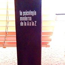 Libros de segunda mano: PSICOLOGÍA DE LA A A LA Z EDITADO EN 1967. Lote 183568943