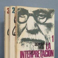 Libros de segunda mano: LA INTERPRETACION DE LOS SUEÑOS. SIGMUND FREUD. 3 TOMOS. Lote 183619121