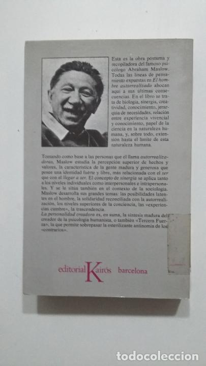 Libros de segunda mano: La Personalidad Creadora. - Abraham H. Maslow. EDITORIAL KAIROS. TDK431 - Foto 2 - 183759175