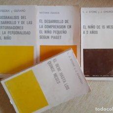 Libros de segunda mano: LOTE LIBROS PAIDOS - PSICOANÁLISIS DEL NIÑO - DESARROLLO COMPRENSIÓN PIAGET ECUADOR CONTEMPORÁNEO - . Lote 183878437