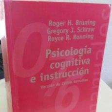 Libros de segunda mano: PSICOLOGÍA COGNITIVA E INSTRUCCIÓN - AA.VV. Lote 183925510
