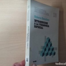 Libros de segunda mano: BIBLIOTECA DE PSICOLOGÍA: INTRODUCCIÓN A LA PEDAGOGÍA ESPECIAL - ROBERTO ZAVALLONI. Lote 184262242