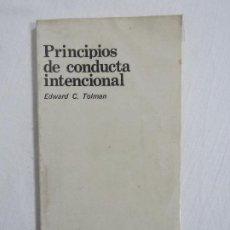Libros de segunda mano: PRINCIPIOS DE CONDUCTA INTENCIONAL. Lote 190193293