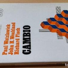 Libros de segunda mano: CAMBIO BIBLIOTECA PSICOLOGIA 35 - P WATZLAWICK - J H WEALAND - R FISCH/ G403. Lote 190936597