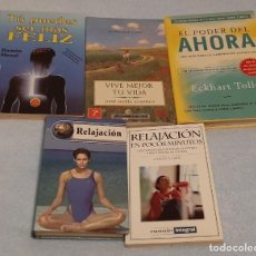 Libros de segunda mano: LOTE DE LIBROS RELAX Y PSICOLOGÍA. Lote 191306392