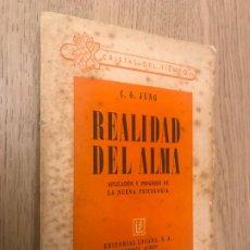 Libros de segunda mano: REALIDAD DEL ALMA - G. G. JUNG - 1940. Lote 191384705