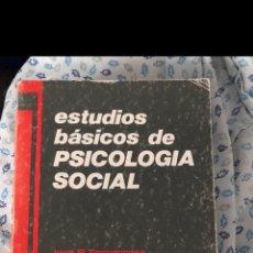 Libros de segunda mano: ESTUDIOS BÁSICOS DE PSICOLOGÍA SOCIAL - JOSÉ R. TORREGROSA. Lote 191486163