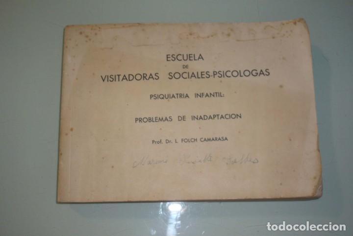 ANTIGUO LIBRO VISITADORAS SOCIALES. PROF.DR.L.FOLCH CAMARASA (Libros de Segunda Mano - Pensamiento - Psicología)