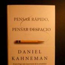 Libros de segunda mano: PENSAR RÁPIDO, PENSAR DESPACIO. KAHNEMAN, DANIEL. DEBATE. Lote 191587597