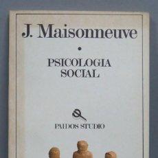 Libros de segunda mano: PSICOLOGIA SOCIAL. MAISONNEUVE. Lote 191916128