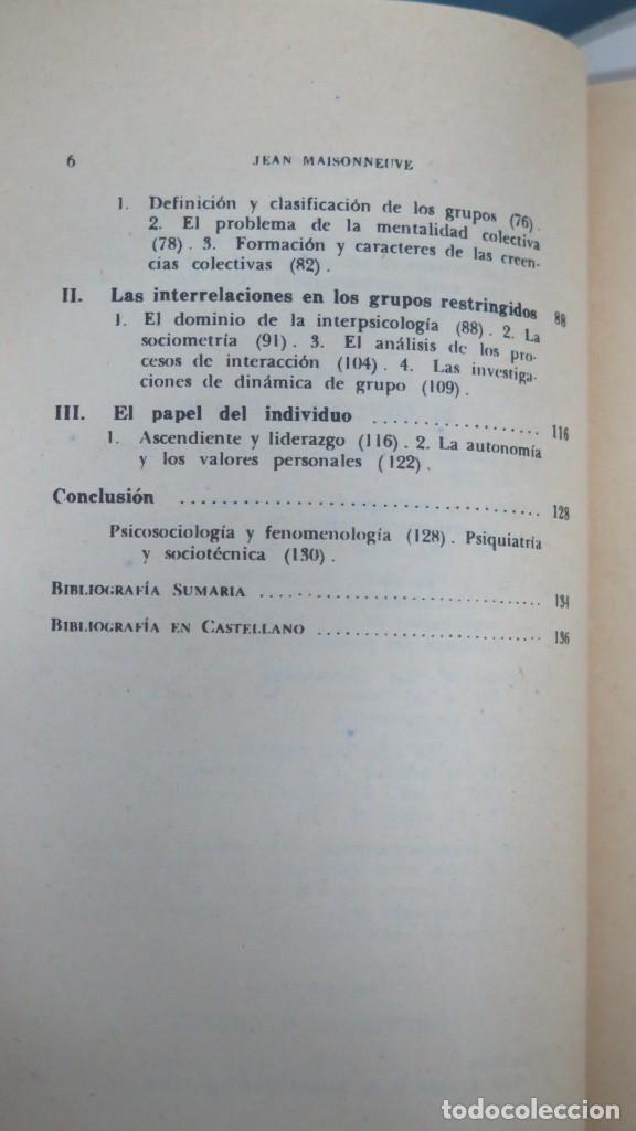 Libros de segunda mano: PSICOLOGIA SOCIAL. maisonneuve - Foto 3 - 191916128
