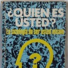 Libros de segunda mano: ¿QUIÉN ES USTED? - LA SICOLOGÍA DE SER USTED MISMO - RAYMOND F. GALE - ED. DIANA 1979 - VER INDICE. Lote 192091930