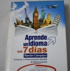 Libros de segunda mano: APRENDE UN IDIOMA EN 7 DÍAS. CAMPAYO, RAMÓN. Lote 194028127