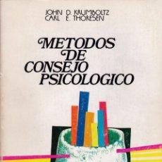 Libros de segunda mano: * PSICOANÁLISIS * MÉTODOS DE CONSEJO PSICOLÓGICO / JOHN D. KRUMBOLTZ ; CARL E. THORESEN. Lote 194222663