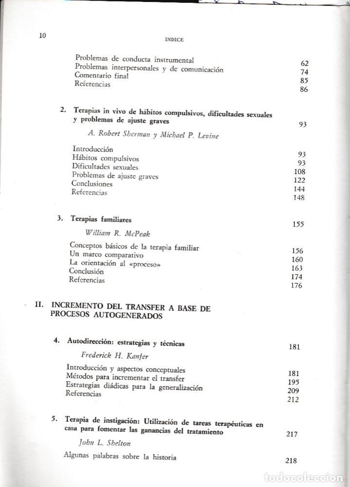 Libros de segunda mano: Generalización y transfer en psicoterapia / Arnold P. Goldstein - Foto 3 - 194224887