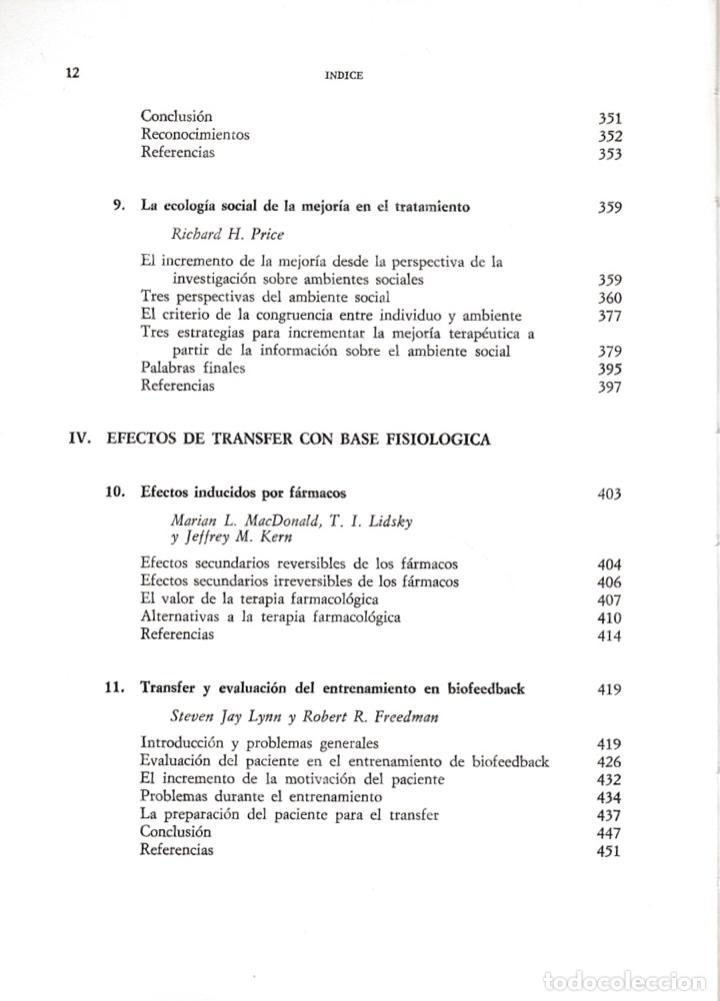 Libros de segunda mano: Generalización y transfer en psicoterapia / Arnold P. Goldstein - Foto 6 - 194224887