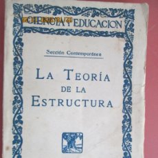 Libros de segunda mano: LA TEORIA DE LA ESTRUCTURA , LA PSICOLOGIA NOVISIMA - KURT KOFFKA - AÑOS 1930 . Lote 194353197