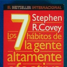 Libros de segunda mano: LOS 7 HÁBOTOS DE LA GENTE ALTAMENTE EFECTIVA - STEPHEN R. COVEY. Lote 194489138