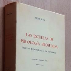 Libros de segunda mano: LAS ESCUELAS DE PSICOLOGIA PROFUNDA. DESDE SUS PRINCIPIOS HASTA LA ACTUALIDAD - WYSS, DIETER. Lote 194601362