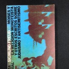 Libros de segunda mano: MOISES Y LA RELIGION MONOTEISTA - S. FREUD - Nº256 ALIANZA EDITORIAL 4ª 1984. Lote 194719868