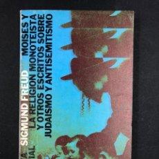 Libros de segunda mano: MOISES Y LA RELIGION MONOTEISTA - S. FREUD - Nº256 ALIANZA EDITORIAL 4ª 1984. Lote 194719911