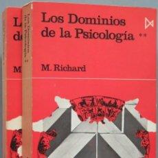 Libros de segunda mano: LOS DOMINIOS DE LA PSICOLOGÍA. RICHARD. 2 TOMOS. Lote 194901105