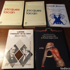Libros de segunda mano: LOTE JACQUES LACAN: ESCRITOS (2 TOMOS), ITINERARIO DE SU OBRA, PSICOANÁLISIS, LINGÜÍSTICA...; CINCO. Lote 194917203