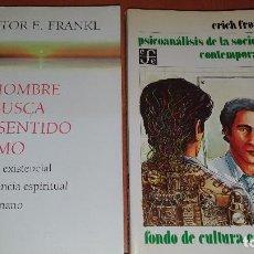 Libros de segunda mano: EL HOMBRE EN BUSCA DEL SENTIDO ULTIMO, PSICOANALISIS DE LA SOCIEDAD CONTEMPORANEA,V. FRANKL -E.FROMM. Lote 194922803