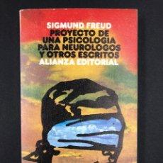 Libros de segunda mano: FREUD - PROYECTO DE UNA PSICOLOGIA PARA NEUROLOGOS Y OTROS ESCRITOS - Nº523 ALIANZA 1ª ED. 1974. Lote 194933407