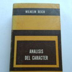 Libros de segunda mano: ANÁLISIS DEL CARACTER/WILHELM REICH. Lote 194967755